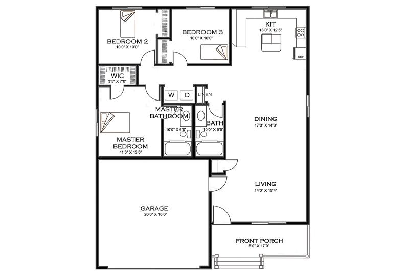 The Chestnut Home Floorplan