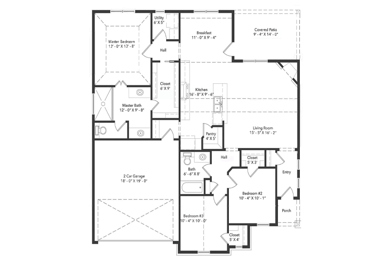 The Harmon's Den Home Floorplan