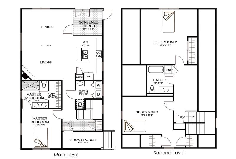 The Red Oak Home Floorplan