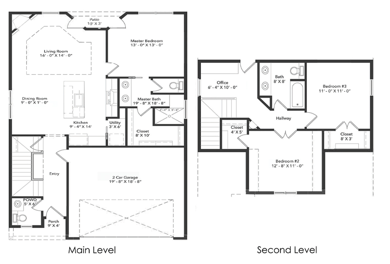 The Shining Rock Home Floorplan
