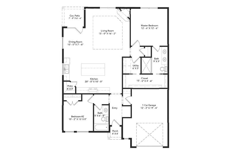 The Slate Rock Home Floorplan