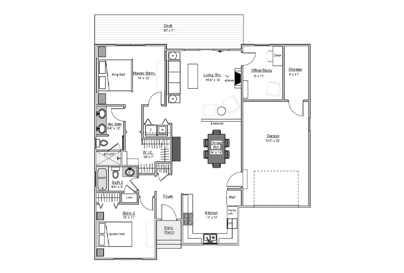 Black Walnut Floor Plan